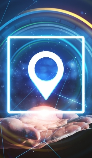 main_qui_tient_position_gps_digital_mobile